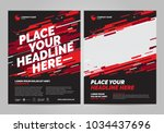 poster design sports invitation ... | Shutterstock .eps vector #1034437696