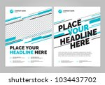 flyer design sports invitation... | Shutterstock .eps vector #1034437702