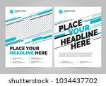 flyer design sports invitation... | Shutterstock .eps vector #1034437702