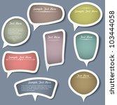 speech bubbles with... | Shutterstock .eps vector #103444058