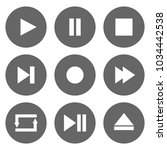 media player control buttons... | Shutterstock .eps vector #1034442538
