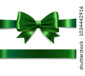 green ribbon bow with gradient... | Shutterstock .eps vector #1034442916