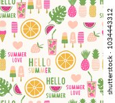 summertime seamless pattern | Shutterstock .eps vector #1034443312