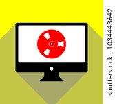 bobbin icon. film bobbin. roll  ... | Shutterstock .eps vector #1034443642