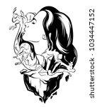 vector hand drawn illustration... | Shutterstock .eps vector #1034447152