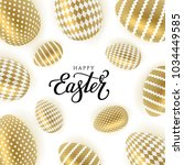 happy easter vector... | Shutterstock .eps vector #1034449585
