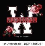 varsity slogan graphic for t... | Shutterstock .eps vector #1034450506
