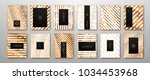 vector set of abstract... | Shutterstock .eps vector #1034453968