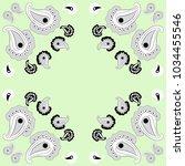 paisley  oriental colorless... | Shutterstock . vector #1034455546