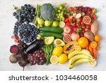 healthy eating concept ... | Shutterstock . vector #1034460058