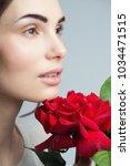 beauty fashion model woman face....   Shutterstock . vector #1034471515