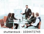 senior manager of the company... | Shutterstock . vector #1034472745