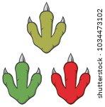 dinosaur footprint design... | Shutterstock .eps vector #1034473102