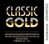 vector elegant classic gold... | Shutterstock .eps vector #1034485522