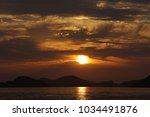 beautiful sunset of korea... | Shutterstock . vector #1034491876