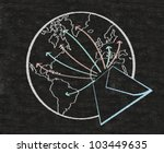 e mail and world symbol written ... | Shutterstock . vector #103449635