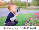 cute little asian 18 months   1 ... | Shutterstock . vector #1034499628