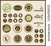 set of vintage retro restaurant | Shutterstock .eps vector #103450022