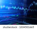 financial stock market graph... | Shutterstock . vector #1034501665