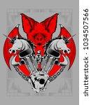 bat horse machine   motor club... | Shutterstock .eps vector #1034507566
