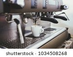 close up of an espresso machine ... | Shutterstock . vector #1034508268