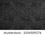 black rough brick walls.... | Shutterstock . vector #1034509276