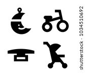 icons baby with tricycle ... | Shutterstock .eps vector #1034510692