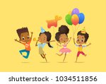joyous african american boys... | Shutterstock .eps vector #1034511856