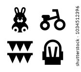 icons baby with tricycle  bunny ... | Shutterstock .eps vector #1034512396