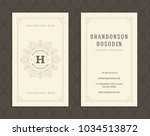 luxury business card and... | Shutterstock .eps vector #1034513872