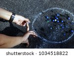 indian people play marbles on...   Shutterstock . vector #1034518822