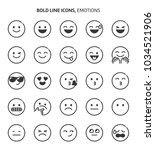 emotions  bold line icons. the... | Shutterstock .eps vector #1034521906