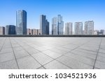 empty floor with modern building | Shutterstock . vector #1034521936
