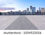 empty floor with modern building | Shutterstock . vector #1034522026