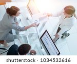 senior manager conveys to the... | Shutterstock . vector #1034532616