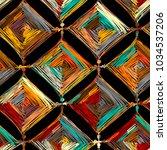 mandala knitting  seamless... | Shutterstock .eps vector #1034537206