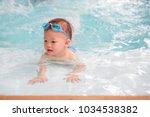 cute little asian 18 months   1 ... | Shutterstock . vector #1034538382