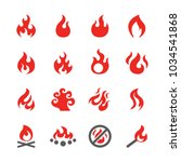fire icon set | Shutterstock .eps vector #1034541868