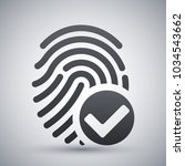 vector fingerprint accepted... | Shutterstock .eps vector #1034543662
