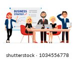 set of business people cartoon... | Shutterstock .eps vector #1034556778