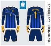goalkeeper jersey or soccer kit ... | Shutterstock .eps vector #1034558806
