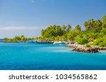 dhigurah island  maldives.... | Shutterstock . vector #1034565862