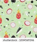 modern vector seamless pattern... | Shutterstock .eps vector #1034569246