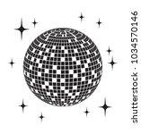 disco ball vector icon | Shutterstock .eps vector #1034570146