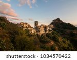 a view of the village of savoca ... | Shutterstock . vector #1034570422
