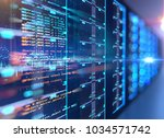 server room 3d illustration... | Shutterstock . vector #1034571742