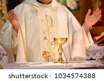 Priest Celebrate Mass At The...