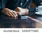 phone on the table  technology ...   Shutterstock . vector #1034577682