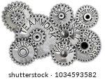 macro photo of tooth wheels... | Shutterstock . vector #1034593582