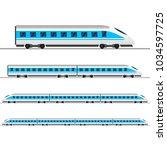 train. modern passenger express ... | Shutterstock . vector #1034597725